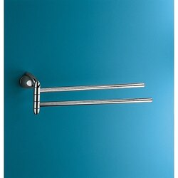 GEDY 5923-13 ATLANTIS CHROME JOINTED DOUBLE TOWEL HOLDER