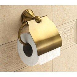 GEDY 7525-44 ROMANCE BRONZE TOILET ROLL HOLDER WITH COVER