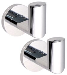 GEDY 5127-13 DEMETRA PAIR OF POLISHED CHROME HOOK(S)