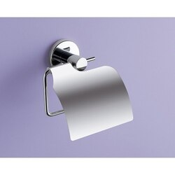 GEDY FE25-13 FELCE CHROME TOILET PAPER HOLDER WITH COVER