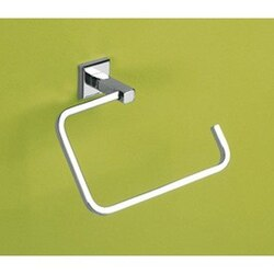 GEDY 6970-13 COLORADO POLISHED CHROME SQUARE TOWEL RING