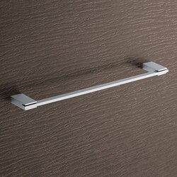 GEDY 3821-45-13 KANSAS SQUARE 18 INCH POLISHED CHROME TOWEL BAR