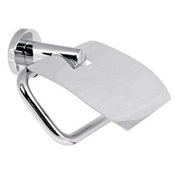GEDY 5125-13 DEMETRA CHROME TOILET PAPER HOLDER WITH COVER