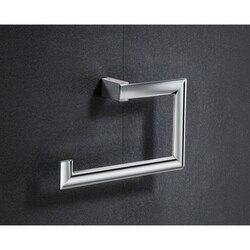 GEDY 5570-13 KENT SQUARE CHROMED BRASS TOWEL RING