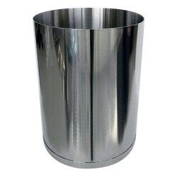 GEDY 5209-13 VESTA ROUND STAINLESS 1.74 GAL WASTE BASKET