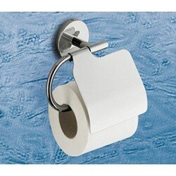 GEDY 4225-13 VERMONT POLISHED CHROME TOILET ROLL HOLDER WITH COVER