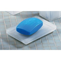 GEDY 5751-02 GLAMOUR SQUARE FROSTED GLASS SOAP HOLDER