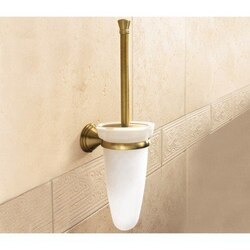 GEDY 7533-03-44 ROMANCE WALL MOUNTED GLASS TOILET BRUSH HOLDER WITH BRONZE MOUNTING