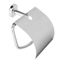 GEDY 6725-13 GEORGIA POLISHED CHROME TOILET ROLL HOLDER WITH COVER