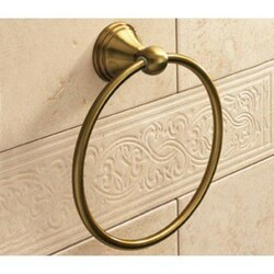 GEDY 7570-44 ROMANCE CLASSIC-STYLE BRONZE TOWEL RING