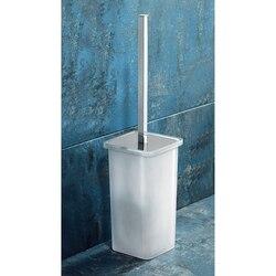 GEDY 5733-02 GLAMOUR SQUARE WHITE GLASS TOILET BRUSH HOLDER