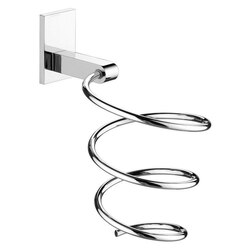GEDY 5056-13 HAIRDRYER SUPPORTS LARGE CHROME WALL MOUNTED SPIRAL HAIR DRYER HOLDER