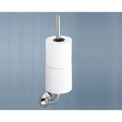 GEDY 2724-03-13 ASCOT CHROME TOILET PAPER AND SPARE ROLL HOLDER