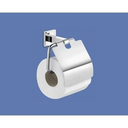 GEDY 2825-13 NEW JERSEY CHROME WALL MOUNTED TOILET PAPER HOLDER WITH COVER