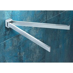 GEDY 5723-13 GLAMOUR 12 INCH POLISHED CHROME DOUBLE SWIVEL TOWEL BAR