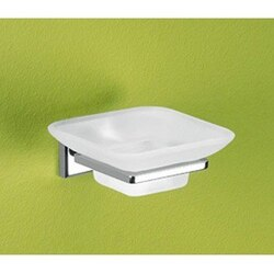 GEDY 6911-13 COLORADO WALL MOUNTED FROSTED GLASS SOAP DISH