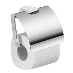 GEDY A125-13 AZZORRE MODERN BRASS AND CROMALL SQUARE TOILET PAPER HOLDER WITH COVER
