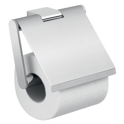 GEDY A225-13 CANARIE SQUARE WALL MOUNTED CHROME TOILET PAPER HOLDER WITH COVER