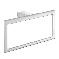 GEDY A370-13 LANZAROTE RECTANGULAR WALL MOUNTED POLISHED CHROMETOWEL RING