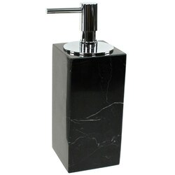 GEDY AN81-14 ANTHURIUM BLACK MARBLE SOAP DISPENSER WITH CHROME PUMP