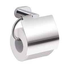 GEDY BE25-13 BERNINA CHROME WALL MOUNTED TOILET PAPER HOLDER WITH COVER