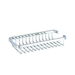 GEESA 143 BASKET COLLECTION CHROME SHOWER SHAMPOO BOTTLE OR SPONGE HOLDER
