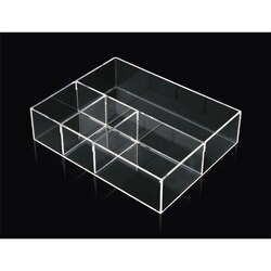 TOSCANALUCE K 153 COMPLIMENTI DRAW ORGANIZER MADE FROM PLEXIGLASS IN TRANSPARENT FINISH
