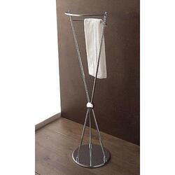 TOSCANALUCE 807 MARINA 15 INCH FREE STANDING POLISHED CHROME TOWEL STAND