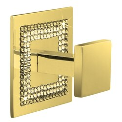 WINDISCH 85521O SQUARE GOLD BRASS HOOK WITH STARLIGHT CRYSTAL BORDER