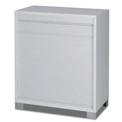 SARMOG 7046 QUADRANTE MODERN WHITE SMALL CABINET WITH ROLLING SHUTTER