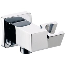 REMER 337S SHOWER HOLDERS SQUARE SHOWER WALL BRACKET WITH WATER OUTLET IN CHROME