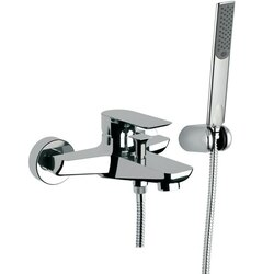 REMER I02US INFINITY WALL-MOUNTED BATH SHOWER MIXER WITH BRACKET AND HAND SHOWER IN CHROME