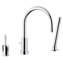 REMER J07 JAZZ SINGLE-LEVER DECK MOUNT BATH AND SHOWER MIXER IN CHROME