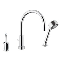 REMER J48319MO JAZZ DECK MOUNT SINK MIXER MADE FROM BRASS IN CHROME FINISH