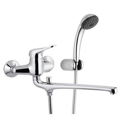 REMER K49 KISS FAUCET WITH 12 INCH SPOUT AND HAND SHOWER AND HOLDER IN CHROME
