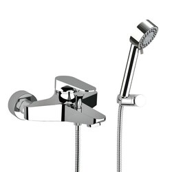 REMER L02US CLASS LINE BATH SHOWER MIXER WITH HAND SHOWER AND SHOWER BRACKET IN CHROME