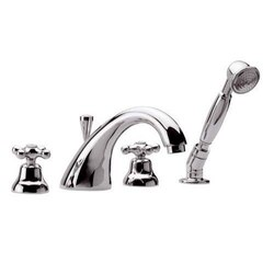 REMER LI06US LIBERTY FOUR PIECE BATHTUB SET WITH PULL-OUT SHOWER IN CHROME