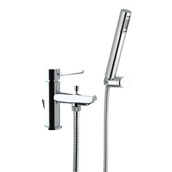 REMER N03 MINIMAL SINGLE-LEVER ONE HOLE TUB FILLER WITH HAND SHOWER IN CHROME