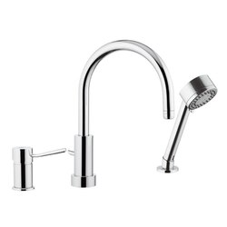 REMER N48319MO MINIMAL CHROME SINGLE-LEVER DECK SINK MIXER WITH SPRAY JET