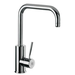 REMER N72US GOURMET ROUND BODY SINK MIXER WITH HIGH MOVABLE U-SPOUT AND SINGLE SIDE LEVER IN CHROME