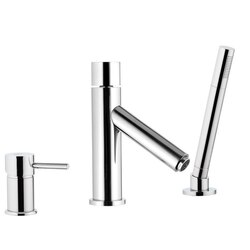 REMER NR07US MINIMAL COLOR DECK BATH SHOWER MIXER WITH LED LIGHT CARTRIDGE IN CHROME