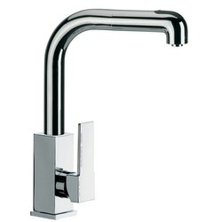 REMER Q82CUS GOURMET TALL SQUARE BODY SINK MIXER WITH HIGH MOVABLE SPOUT AND PULL OUT HAND SPRAY IN CHROME