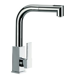 REMER Q82US GOURMET SINK MIXER WITH SQUARE BODY AND REMOVABLE CORNER SHAPED HAND SPRAY IN CHROME