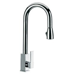REMER Q85US GOURMET ROUND MIXER WITH HIGH MOVABLE C-SPOUT AND PULL OUT HAND SPRAY IN CHROME