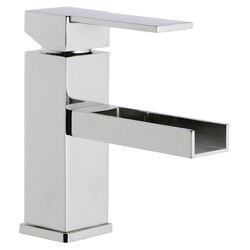 REMER QC11US QUBIKA CASCADE 1 LEVER BASIN MIXER WITH WATERFALL SPOUT