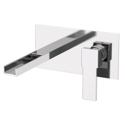 REMER QC15US QUBIKA CASCADE RECTANGULAR BUILT IN BASIN MIXER WITH WATERFALL SPOUT IN CHROME