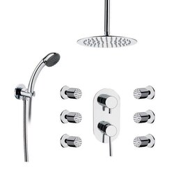 REMER R11 RANIERO SHOWER FAUCET WITH BODY SPRAY IN CHROME