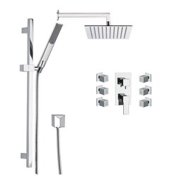 REMER S1 RANIERO SHOWER FAUCET WITH BODY SPRAY IN CHROME