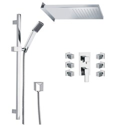 REMER S12 RANIERO SHOWER FAUCET WITH BODY SPRAY IN CHROME