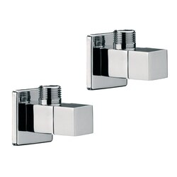 REMER SA500S PLUMBING ACCESSORIES TWO ANGLE VALVES WITH CERAMIC HEAD VALVES IN CHROME FINISH REMER